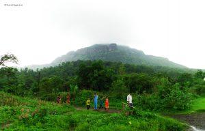 The base Village of Vaghote from where the trail beginstrek to khoj fort, pazhar lake, treks from mumbai , Travel Hippies